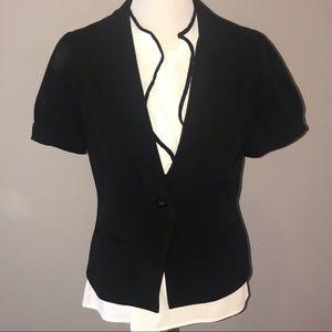 Black Short Sleeve Blazer Size 8